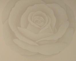 Graue Rose - Retro-Tapete