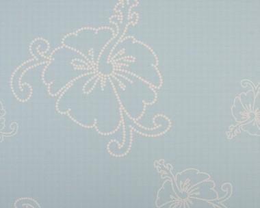 Tapete - Contzen - Hibiscus Blau