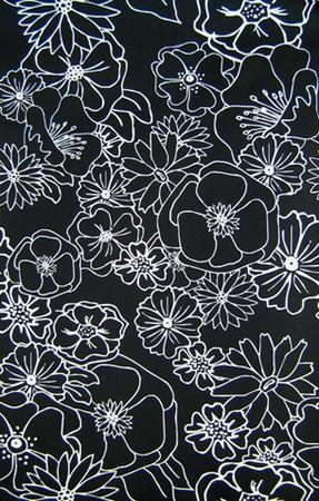 Tapete - Flowers Black&White