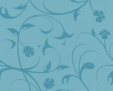 Tapete - Flock II - Blau - Lilien