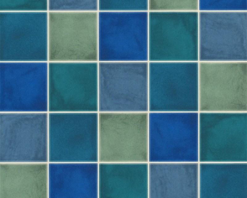 tapete fliesen blau delft retro tapeten pr sentiert von klang und kleid tapeten in. Black Bedroom Furniture Sets. Home Design Ideas