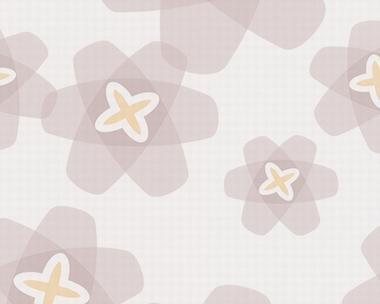 Tapete - Contzen Papers - Transparent Flowers - Grau
