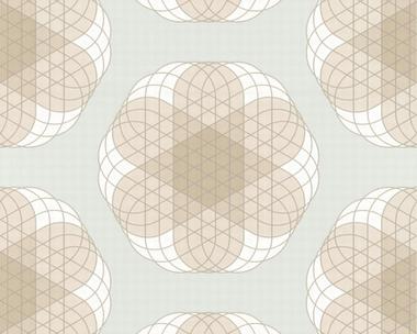 Tapete - Contzen Papers - Linear Flowers - Blaugrau