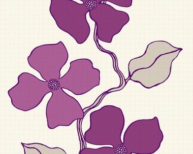 Esprit tapete city glam blumenmuster violett for Tapete blumenmuster
