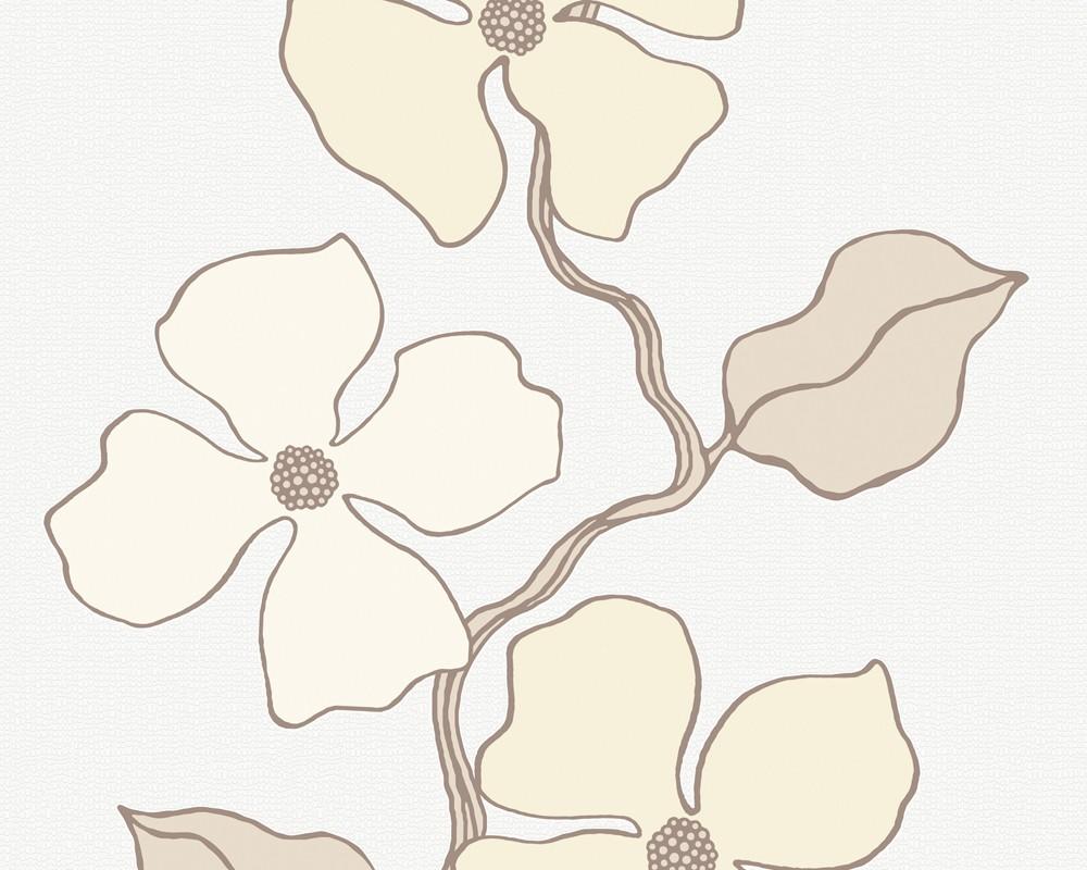 Esprit tapete city glam blumenmuster beige esprit for Blumenmuster tapete