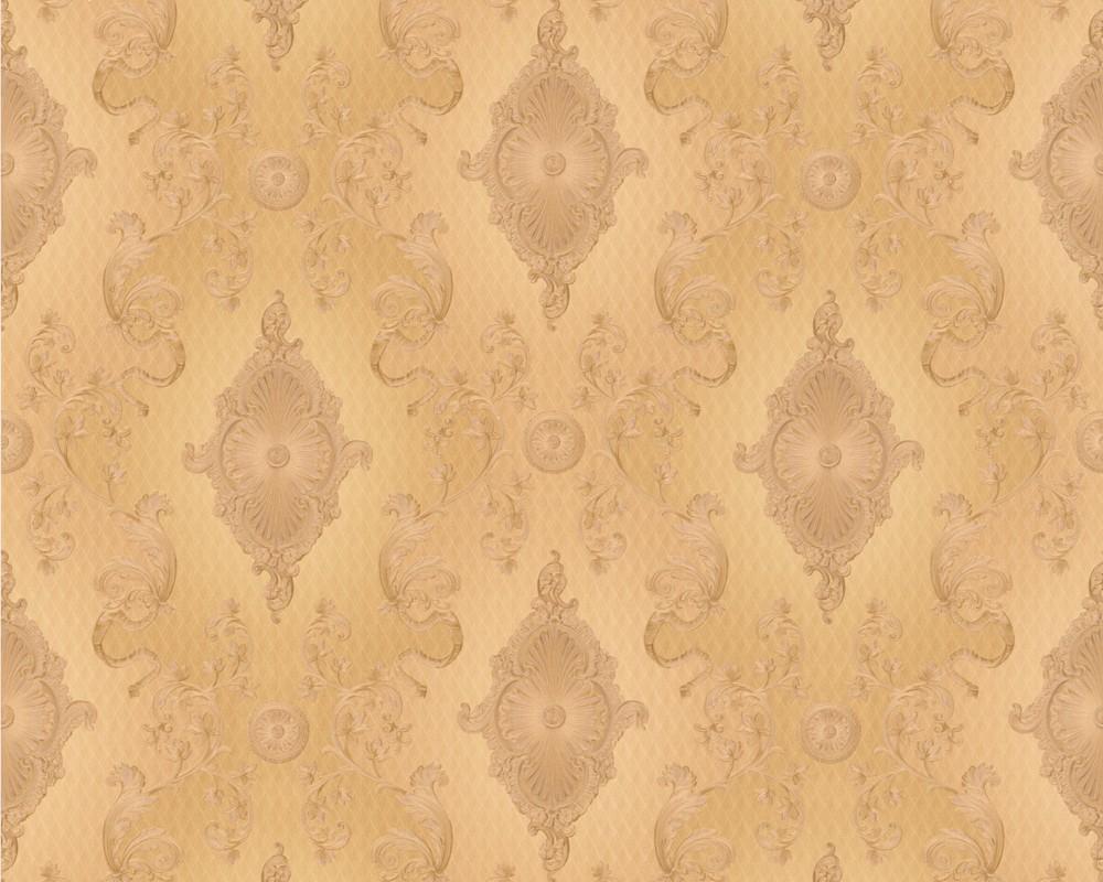 tapete hermitage vii gelbgold hermitage vii retro tapeten pr sentiert von klang und. Black Bedroom Furniture Sets. Home Design Ideas