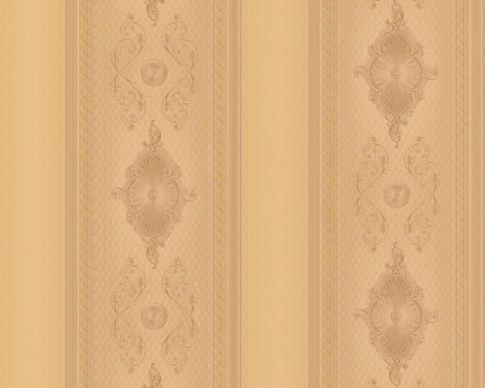 tapete hermitage vii streifen gelbgold hermitage vii retro tapeten pr sentiert von klang. Black Bedroom Furniture Sets. Home Design Ideas