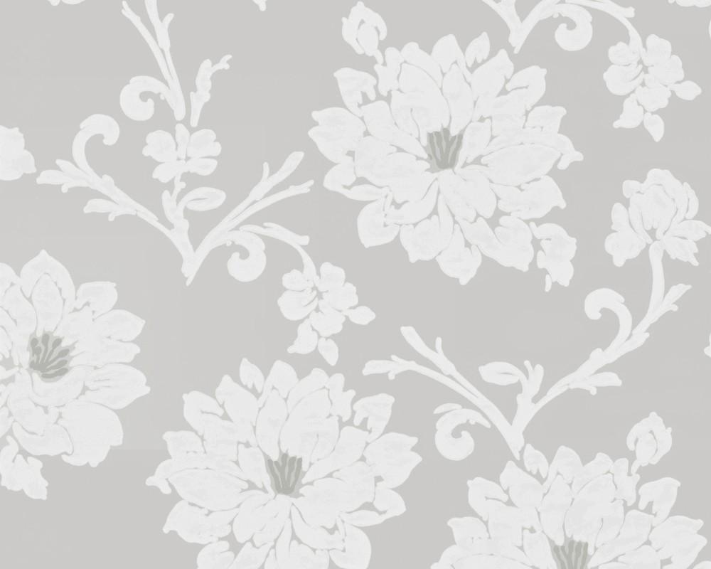 tapete flock iii floral grau flock iii retro. Black Bedroom Furniture Sets. Home Design Ideas