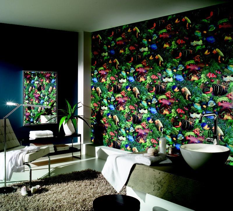 tapete faro unterwasser faro iii retro tapeten pr sentiert von klang und kleid tapeten. Black Bedroom Furniture Sets. Home Design Ideas