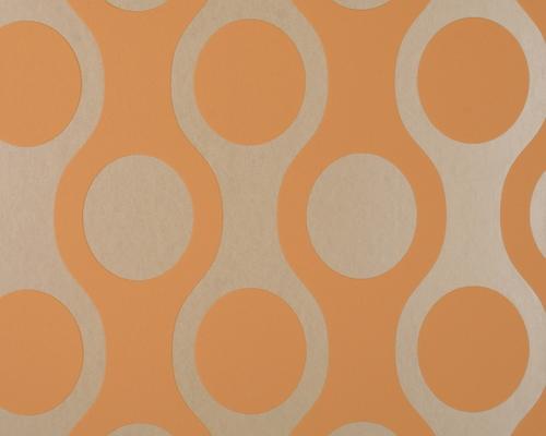 tapete flock orange flock retro tapeten. Black Bedroom Furniture Sets. Home Design Ideas
