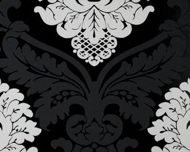 tapete flock schwarz weiss flock retro tapeten. Black Bedroom Furniture Sets. Home Design Ideas