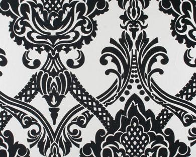 Tapete - Flock - metallic schwarz