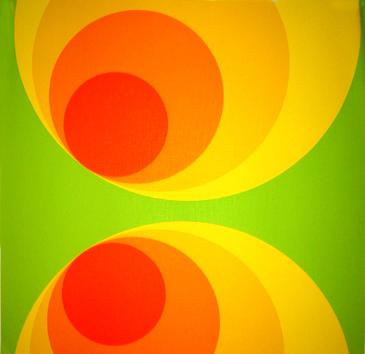 Kreise Gr�n - Retrotapete