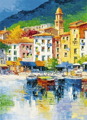 Fototapete - Italien Riviera Ligure 4 Part
