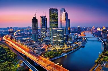 Fototapete Moskau von oben - Klicken für grössere Ansicht