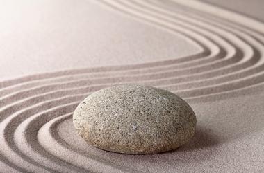 Fototapete Zen Stein Sand - Klicken für grössere Ansicht