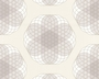 TAPETE - CONTZEN PAPERS - LINEAR FLOWERS - BEIGE