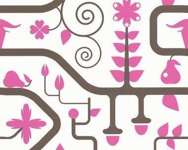 Tapete - Contzen 3 - Dekor el Paraiso - Rosa