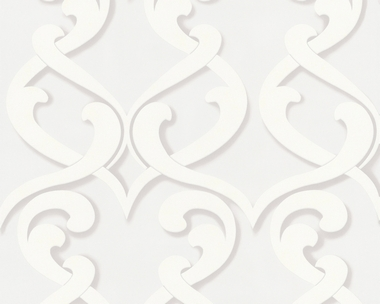 Tapete - Flock III - New Baroque - Weiß