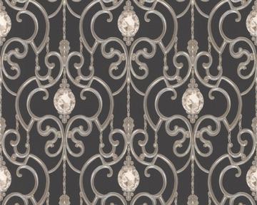 tapete hermitage 8 schwarz weiss hermitage viii retro tapeten pr sentiert von klang und. Black Bedroom Furniture Sets. Home Design Ideas