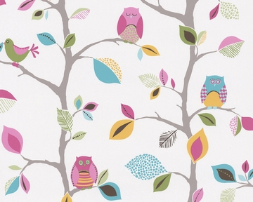 Tapete - Kids Party - Owls - Bunt