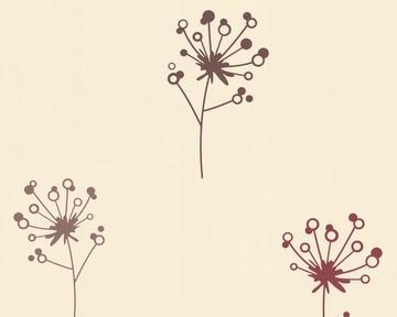 Tapete - Springtime 3 - Flowers - Braun