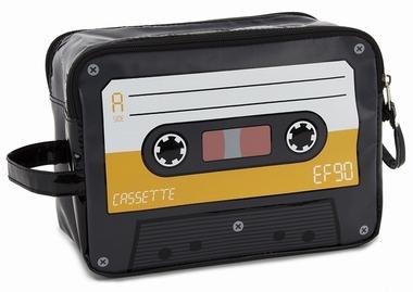 Kulturbeutel Audiokassette gelb