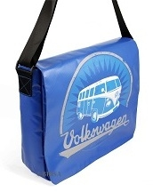 VW Bulli Schultertasche gross - blau