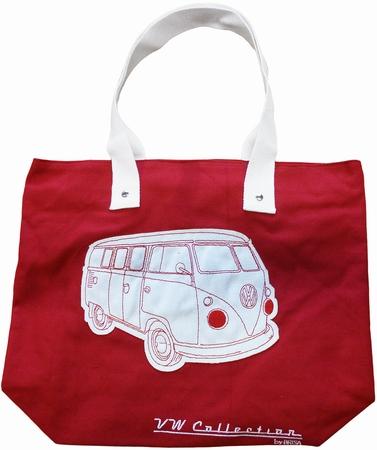 VW Bus Tasche - T1 - Leinen rot