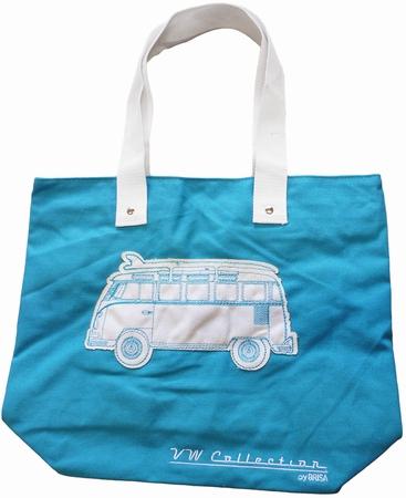 VW Bus Tasche - T1 - Leinen Türkis
