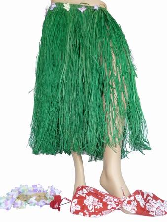 Hula Bastrock Grün mit Bikini