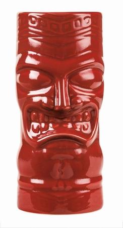 Angry Tiki Mug Red