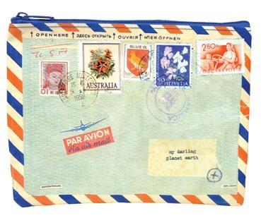 Airmail Zipper Tasche