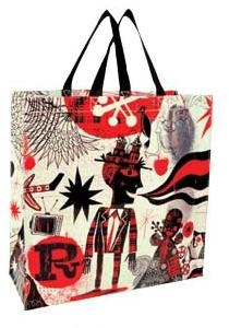 Black & Red All Over Shopper