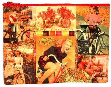 Bicycle Zipper Tasche - Nostalgische Fahrräder