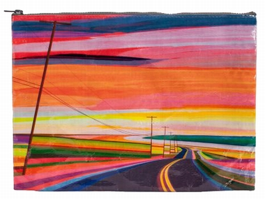 Jumbo Zipper Tasche - Sunset Highway