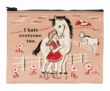 Zipper Tasche - I Hate Everyone Too