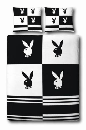 playboy bettw sche blocks schwarz wei shopping fussball trikots. Black Bedroom Furniture Sets. Home Design Ideas