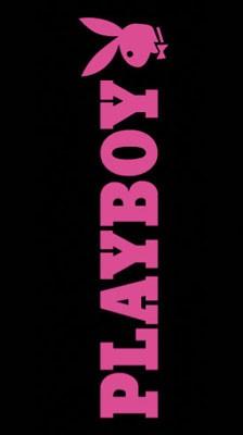 Playboy Badetuch Text - schwarz/pink