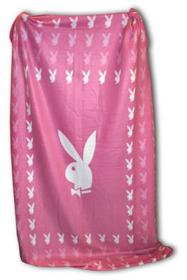 Playboy Fleece Decke - pink