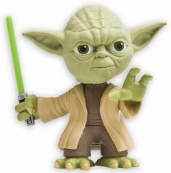 Star Wars Yoda mit grünem Lichtschwert - Headknocker
