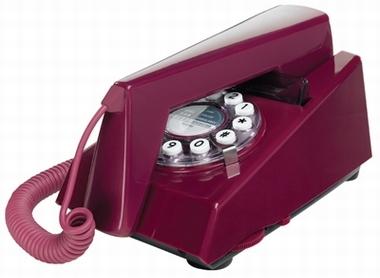 Retrotelefon Trim - Lila