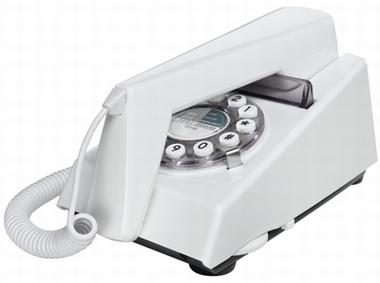 Retrotelefon Trim - Weiss