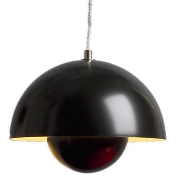 FlowerPot Lampe  - schwarz