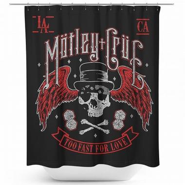 Mötley Crüe Duschvorhang - Biker Skull