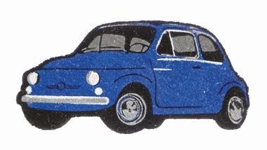 Fiat 500 Fussmatte - BLAU