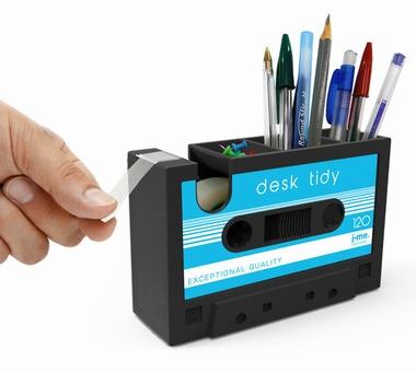 Schreibtischhelfer Kassette - Klebeband Spender - blau