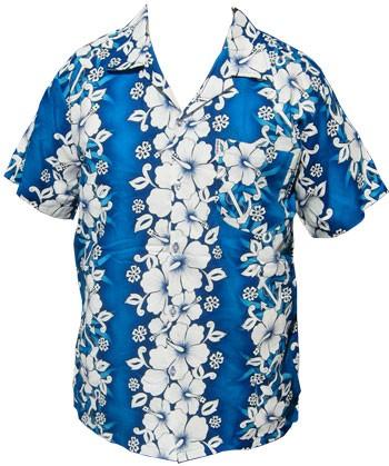 hawaii hemd flowers anchor hellblau klang und. Black Bedroom Furniture Sets. Home Design Ideas