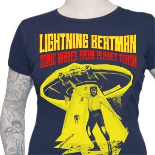 LIGHTNING BEATMAN GIRLIE SHIRT - BLUE