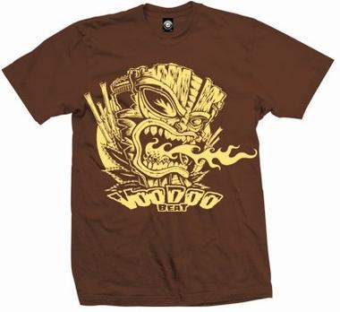 Tiki Volcano - Shirt - braun